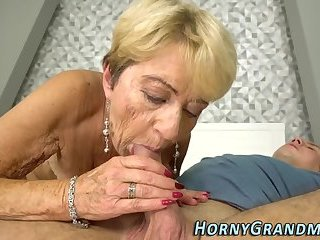 Lingerie grandma cummed