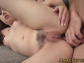 Anally riding ho gets cum