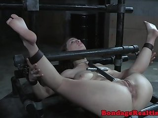 Anally fingered submissive gets toyed
