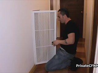Fix my air conditioning and my pussy too
