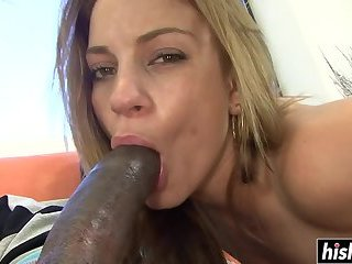 Black guy has fun with brunette Kira