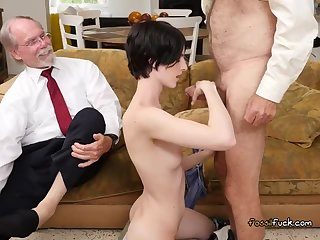 Teen Alex Harper Blows Rich Old Guys For Some Cash