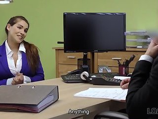 Thumb LOAN4K. Agent receives blowjob and titjob so gladly helps hot chick