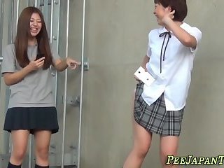 Japanese students pissing