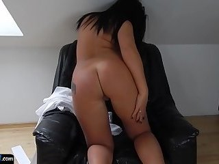 Beautiful euro amateur plays with her cunt