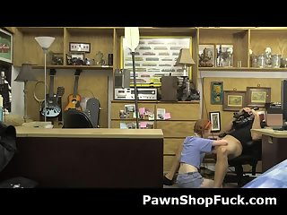 Redheaded Beauty With Braided Hair Sucking Dick In Pawn Shop