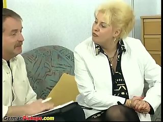 german mom picked up for her first anal