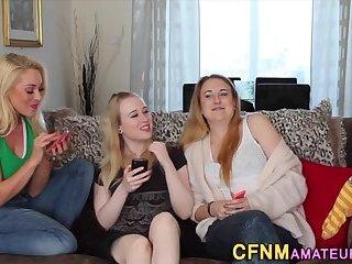 Group cfnm blondes suck