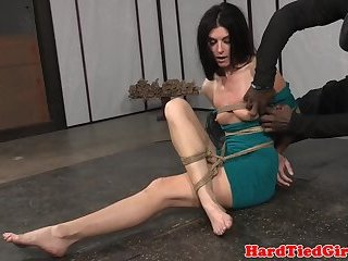 Toyed milf getting dominated and bound
