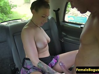 Taxi driving MILF drilled on all fours