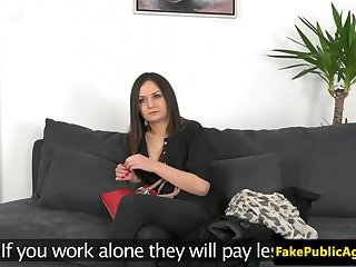 Auditioning babe pussylicked on casting couch