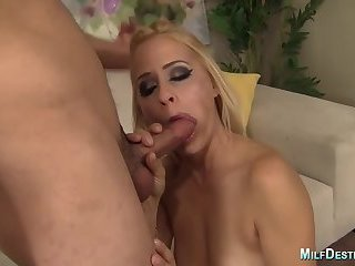 Blonde Milf Fucks and Receives a Facial