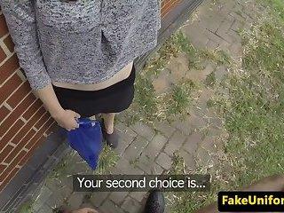 British beauty anally slammed by officer