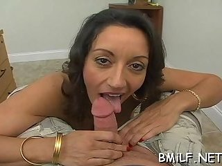 Hot mom is mad about cock