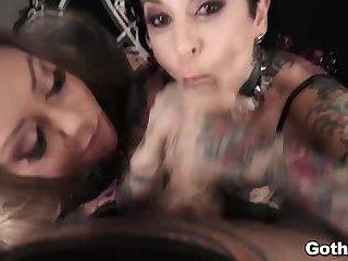 Goth POV porno Sexing video