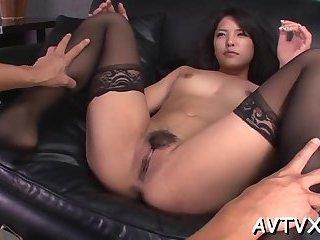Ramming a horny Asian beaver