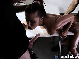 Facialized wife cuckolds her lover