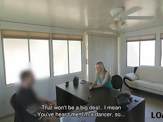 LOAN4K. Sexy go-go dancer really likes to feel like at porn casting