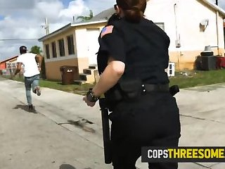 Phone crook is subdued into stripping down and banging horny milf cops