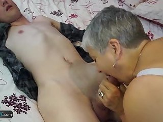 Teen big cock with granny and latin granny with big vibrator