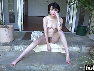 Solo cutie exposes her wet pussy