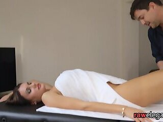 MILF babe bent over and pounded doggystyle