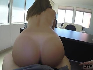 LOAN4K. College trip worth to be fucked by loan manager on his table