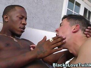 Dudes ass takes black rod