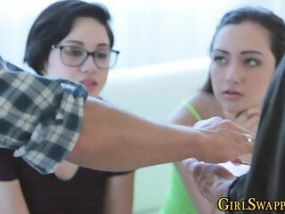 Jizz faced stepdaughters