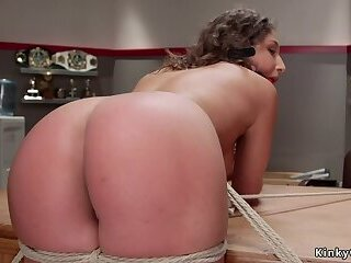 Cheerleader butt whipped and cunt vibed