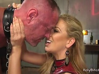Blonde Domina Pegs a Guy