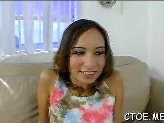 Angelic brunette girlfriend Amber Rayne gets her honey pot torn apart