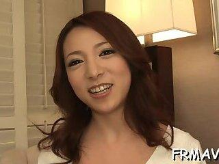 Breathtaking nipponese girlfriend Kanako Tsuchiyo gets fucked