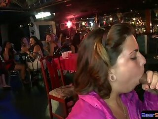 Look at that slut eating stripper dick at the party