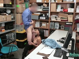 Aryana makes faces while getting drilled by horny officer