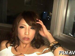 Tenacious Japanese cock sucking