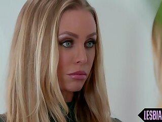 Bribe turns into hot lesbian office sex