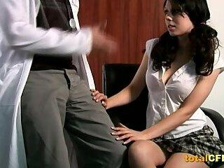 Doctor loves handjob