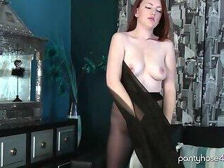 Redhead in Pantyhose