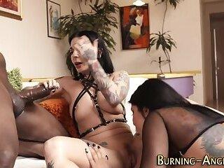 Goth slut swapping spunk