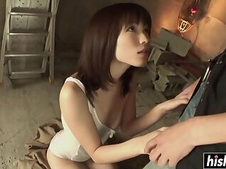 Arisa drools on a delicious dick