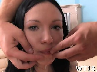 Filthy russian brunette Sasha drilled well in doggy