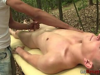 Twink masseur rides dick