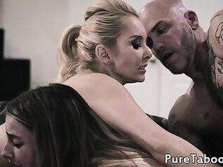 MIlf wants to fuck the lesbo out of stepdaughter