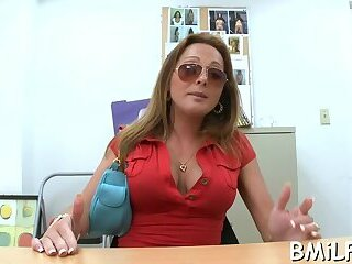 Rod hungry extraordinary honey Lindsey Lovehands with round tits
