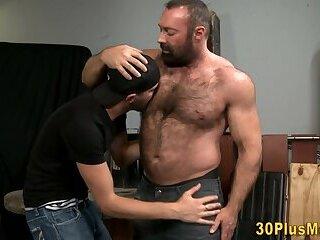 Gay bear fucks guys ass