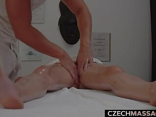 Young Brunette Seducted on Massage Table