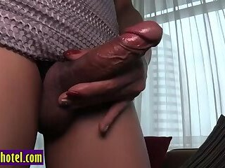 Thai small tits ladyboy sucks and anal with a partner