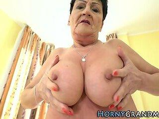 Masturbating old granny