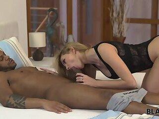 BLACK4K. Huge dick of black friend is better than husband's phallus